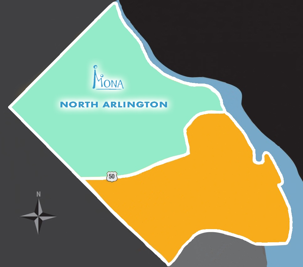 North Arlington Map